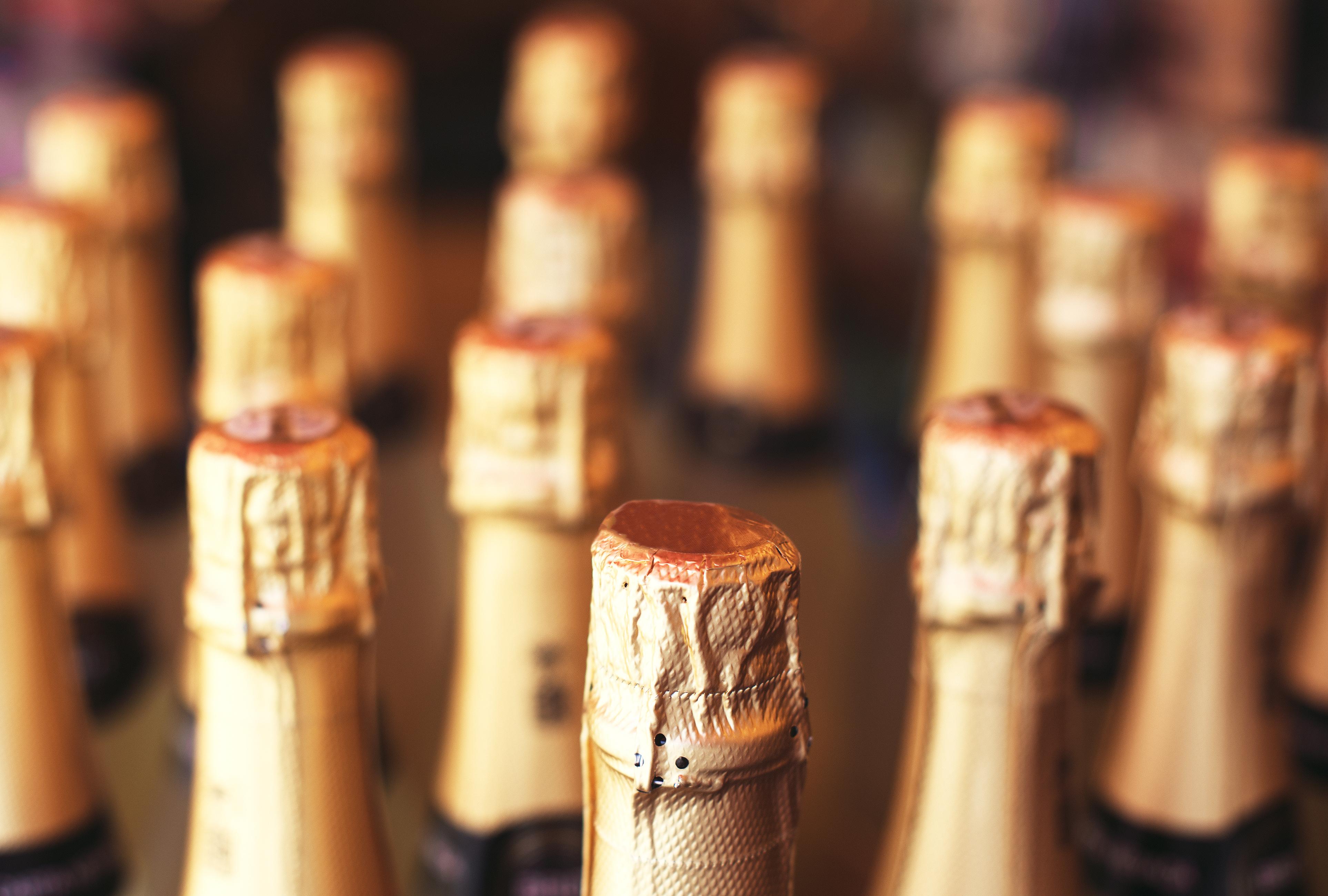 Tops of Wine Bottles